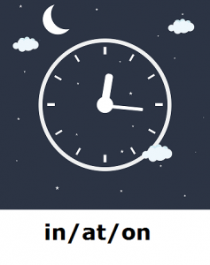 predlozi sa vremenskim značenjem