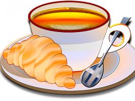 doručak na engleskom