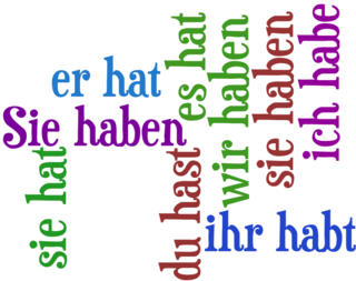 """""""prezent glagola haben"""""""