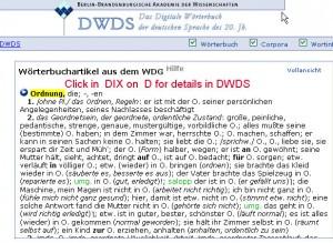 """nemački online rečnik, dwds"""