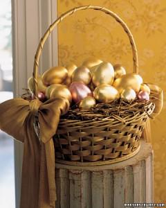 """""""Uskršnja jaja zlatne boje"""""""