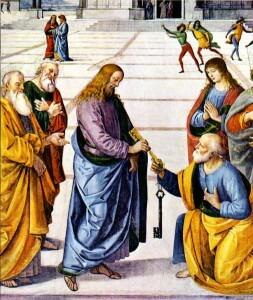 Sveti Petar Isus Hrist predaje ključeve svoje crkve Svetom Petru