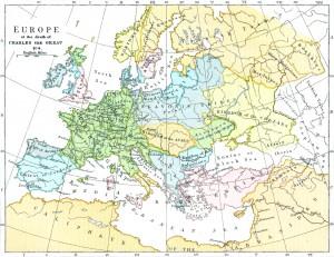 """""""karta Evrope, 814 godina"""""""