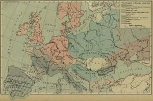 """""""Karta Evrope 9 vek"""""""