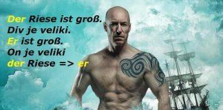 zamena imenica nemački