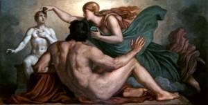 """""""Boginja Atina daruje dušu Prometejevom čoveku od gline, Griepenkerl"""""""