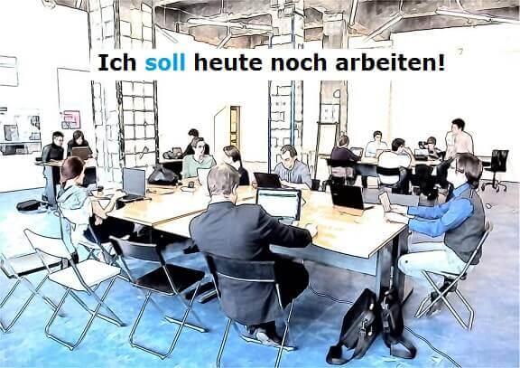 sollen nemački glagol