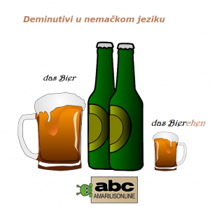 nemački deminutivi Bierchen