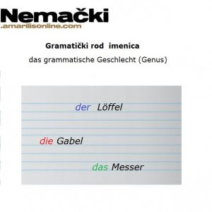 nemačke imenice rodovi