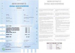 Zertifikat Deutsch Goethe -C2