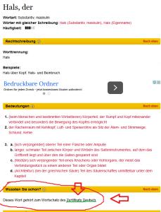 nemački online rečnik Duden