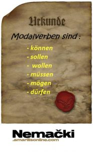 modalni glagoli nemački