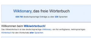 Wiktionary nemački rečnik