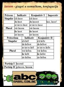 lassen- nemacki glagoli
