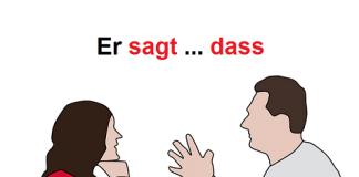 dass rečenica nemački