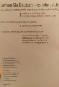 učenje nemačkog u Švajcarskoj