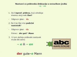 nemački pridevska-deklinacija