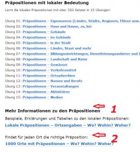 Nemacki predlozi - lokal - online