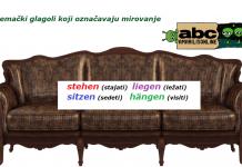 nemacki glagoli mirovanja