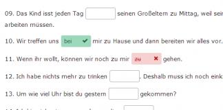 nemacki predlozi online vezbe
